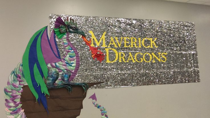 Cafeteria background for Maverick Elementary. Dragon made ...