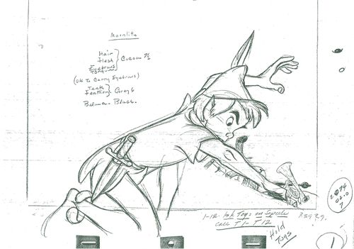 Peter Pan, from the 1953 film of the same name. | 9 Beautiful Hand-Drawn Animations From Disney Films