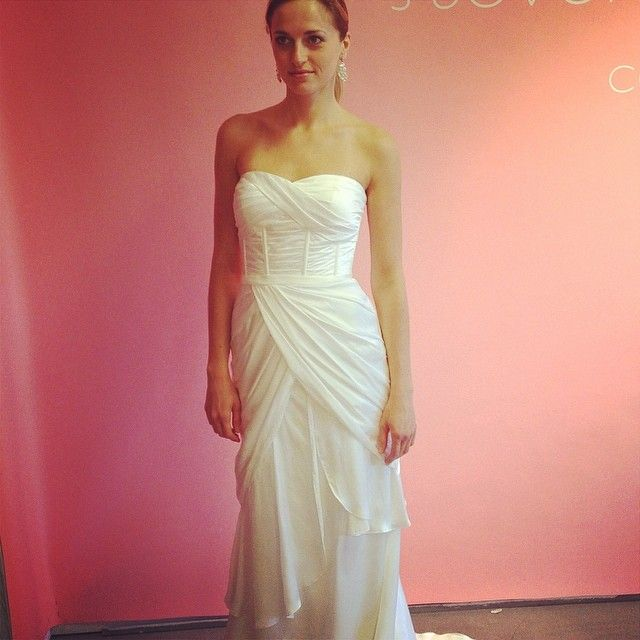 This goddess-worthy gown is perfect for brides who are getting married on a beach! Dress by Birnbaum & Bullock.