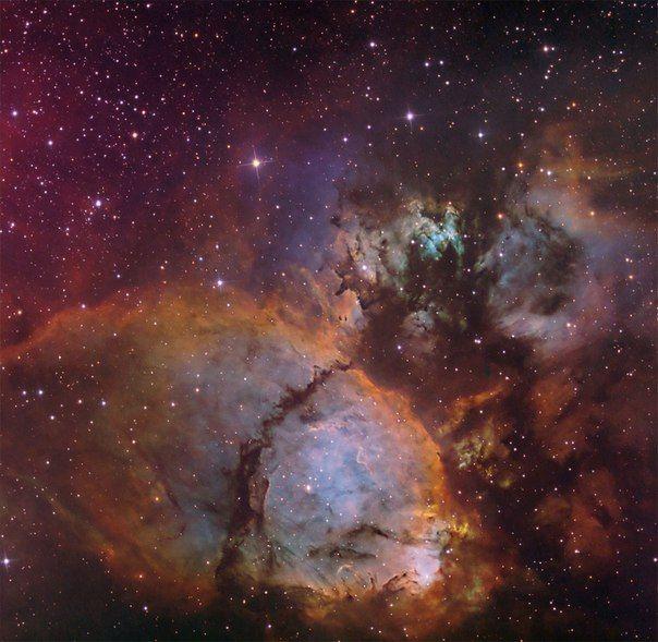 Цвета IC 1795 / Популярная астрономия