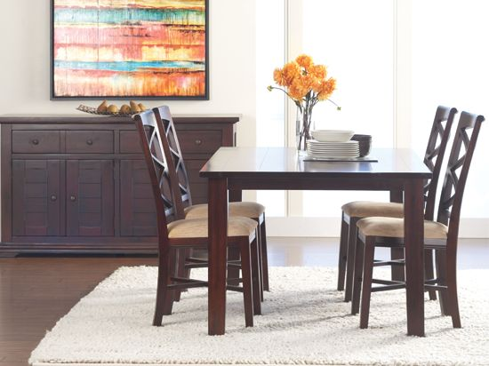 Arabella Dining Table From Scandinavian Designs   Rustic Farmhouse In A  Dark Stain, Solid Acacia