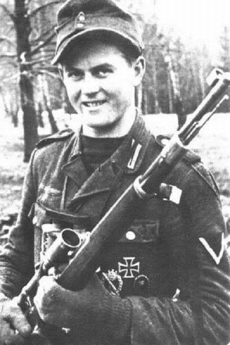 Matthäus Hetzenauer was an Austrian sniper in the 3rdMountainDivision on the Eastern Front of the World War II, who was credited with 345 kills. His longest confirmed kill was reported at 1100 metres.