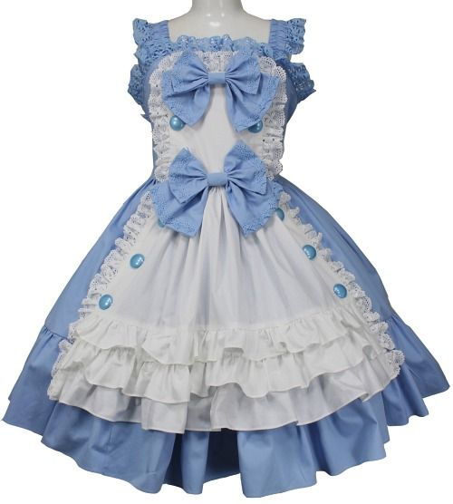 MAXICIMAM,[Large Size] Lovely Apron Tea Party Jumper Skirt,APPAREL  listed at CDJapan! Get it delivered safely by SAL, EMS, FedEx and save with CDJapan Rewards!