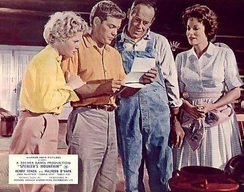 Spencer's Mountain (1963) with Henry Fonda, Maureen O'Hara, and James MacArthur.