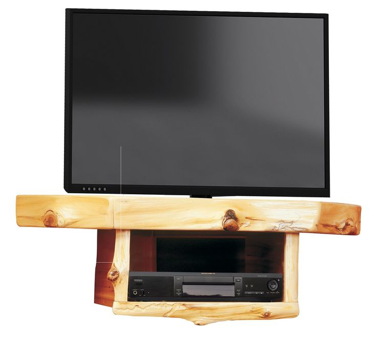 Cedar Corner TV Shelf with DVD/DVR Shelf