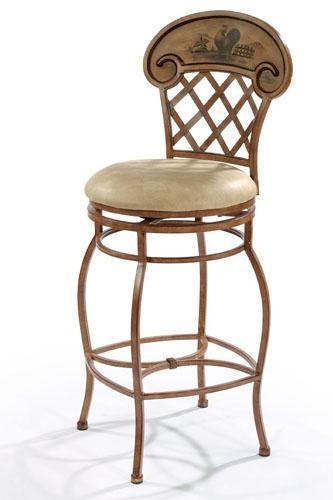 Bar stool with rooster motiff