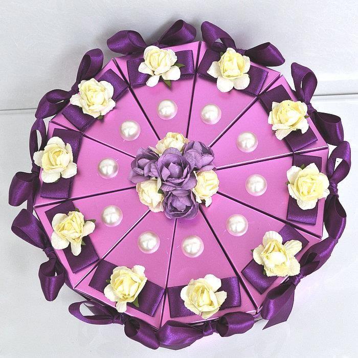 Luxus esküvői torta Boxe Nagyker, egyedi kialakítású karton Esküvői ajándék dobozok / esküvői torta doboz eladó