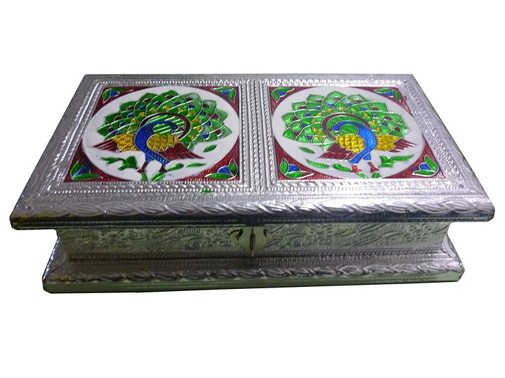 Silver Meenakari work 9X5 inch Dry fruit Box, Dry Fruit box, Dry fruit boxes, Wooden dry Fruit box, meenakari gift boxes,Thanks Giving or Christmas Gift *** Additional details at the pin image, click it  : Decorating Tools