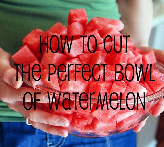 Cutting a watermelon