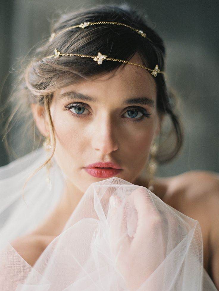 """Poeme"" Circlet by Enchanted Atelier by Liv Hart--Photography LAURA GORDON / Accessories & headpieces ENCHANTED ATELIER BY LIV HART / Gown SAMUELLE COUTURE / Rings TRUMPET & HORN / Make-up ASHLEE GLAZER / Hair stylist NIKKI AVANZINO / Model NATALIA WOWCZYKO / Location LYNDHURST CASTLE / Film scans PHOTOVISION"