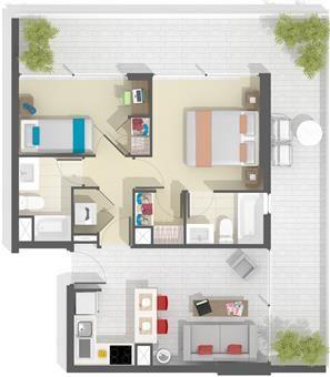 Proyecto Bachelor Donatello - Departamento en Venta, Donatello 7410, Las Condes
