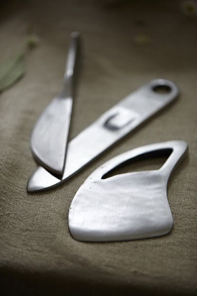3-Piece Farmhouse Cheese Knife Set from Crate & Barrel. I have this set and love it. :)