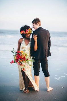 african american beach wedding pictures - Google Search