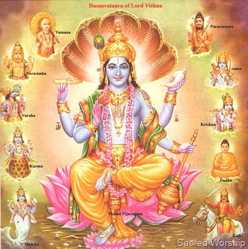 "Lord Vishnu is known to be the ""Preserver of Life"".  ~~ #LordVishnu #Hinduism #HinduGods #Dasavatar #Incarnations #Avatars"