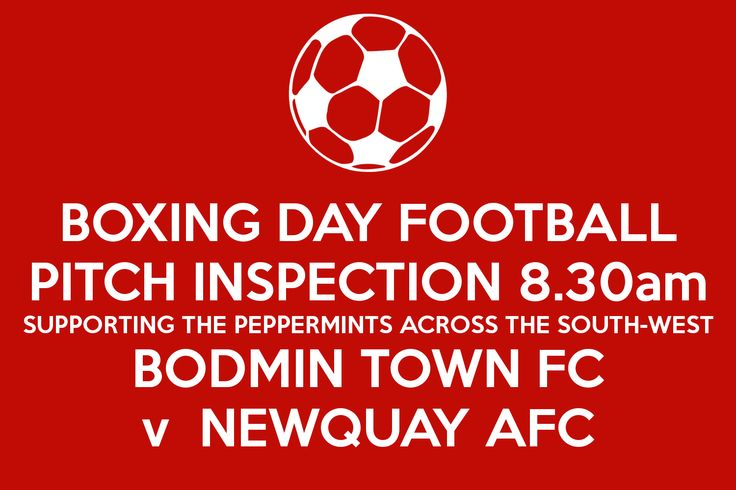 South Ribble Football Pitches | BOXING DAY FOOTBALL PITCH INSPECTION 8.30am SUPPORTING THE PEPPERMINTS ...