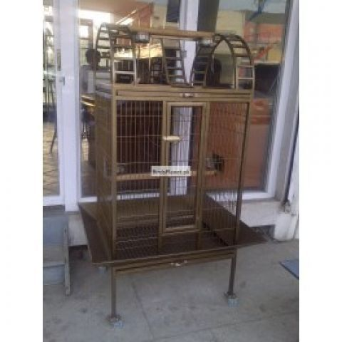 """Beautiful Cage for Macaw and other Pet Birds, easy movable due to high quality wheels Front 40"""" Hight 65"""" Depth 34""""  Price: Rs.20,000"""