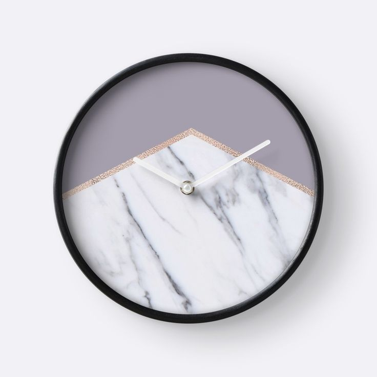 Smokey Lilac   Rose Gold Geometric Marble By Marbleco