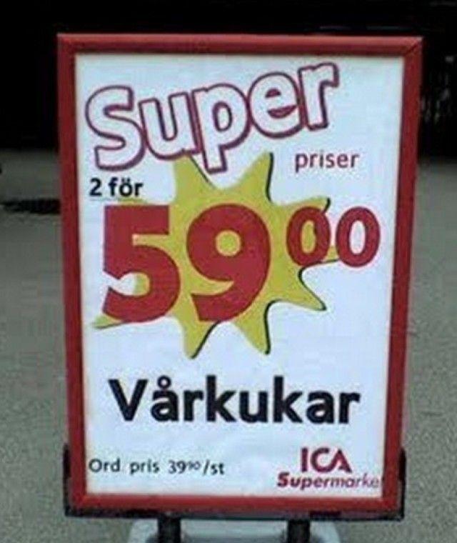 Oh my god xD svenska, ica skämt, felskrivning