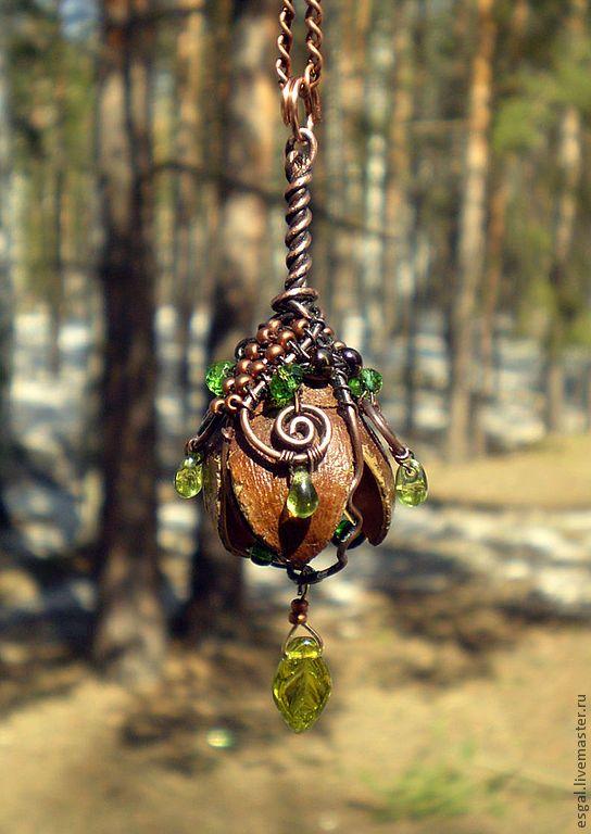 """Купить Кулон """"Цветок фей"""" - зелёный, волшебный лес, цветок, феи, фентези, эльфы, весна"""