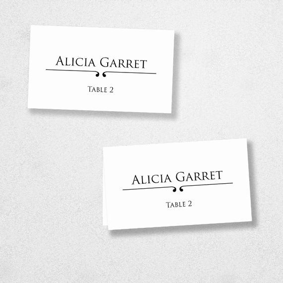 Avery Place Cards Template Inspirational Items Similar To Avery Place Card Template Instant Place Card Template Place Card Template Word Printable Place Cards