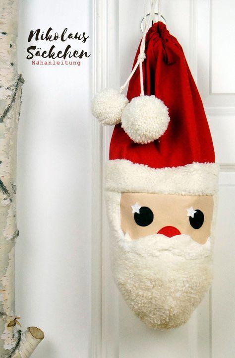Nikolaussäckchen | Basteln | Pinterest | Christmas, Sewing und Santa