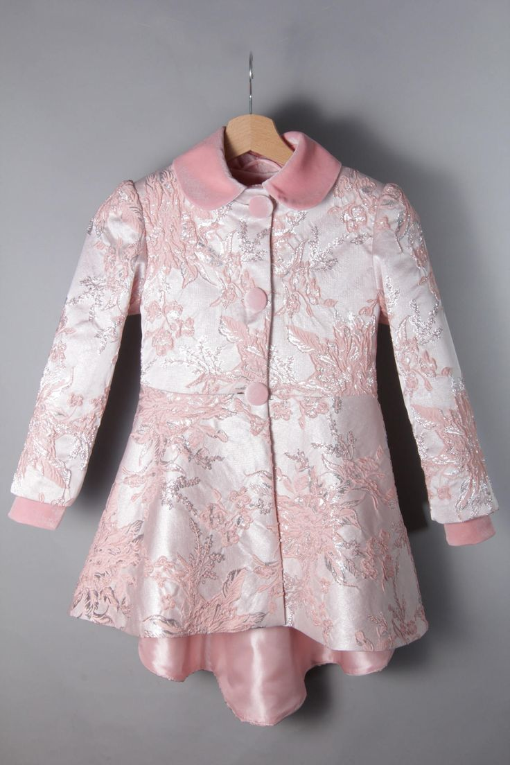 JACQUARD JACKET WITH pink velvet collar