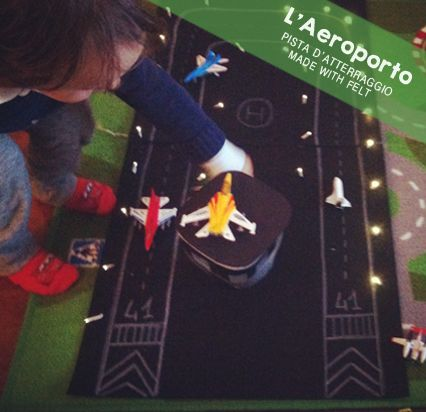 MiniFactory: DIY AEROPORTO - MADE WITH FELT -air port - feltro. Christmas lights battery!  For planes and more!