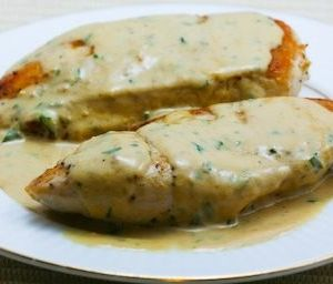 Chicken breasts with tarragon.This chicken breasts recipe belongs to French cuisine.White wine,cream and the delicate herb known as tarragon are there of the foundations for classic French cuisine.