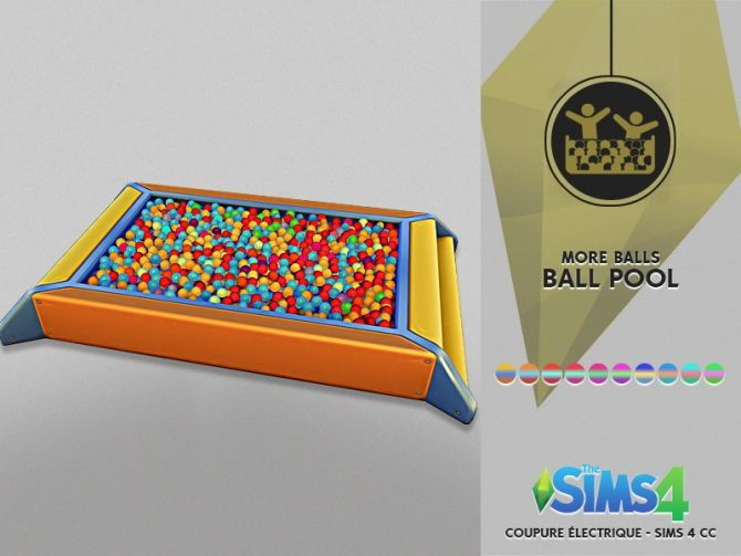 BALL POOL FOR BABYS at Coupure Electrique • Sims 4 Updates