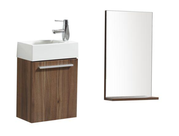 """Meuble-lavabo suspendu 16"""" avec miroir - Meubles-lavabos 24 pouces et moins - Ensembles de meubles-lavabos - Mobilier de salle de bain - Salles de bain - Produits - Bain Dépôt"""