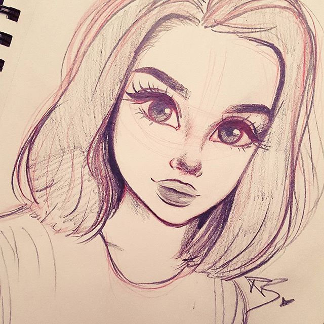 17 Best ideas about Girl Drawings on Pinterest | Pretty drawings ...