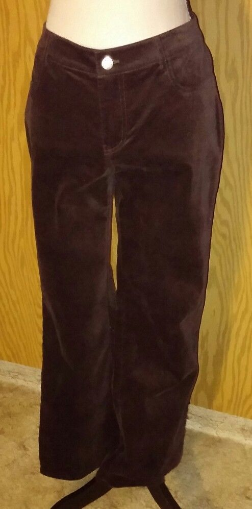 Cabi Brown Velvet Pants Trousers Size 8 Cotton Spandex Dressy Casual Style 138 #CAbi #CasualPants