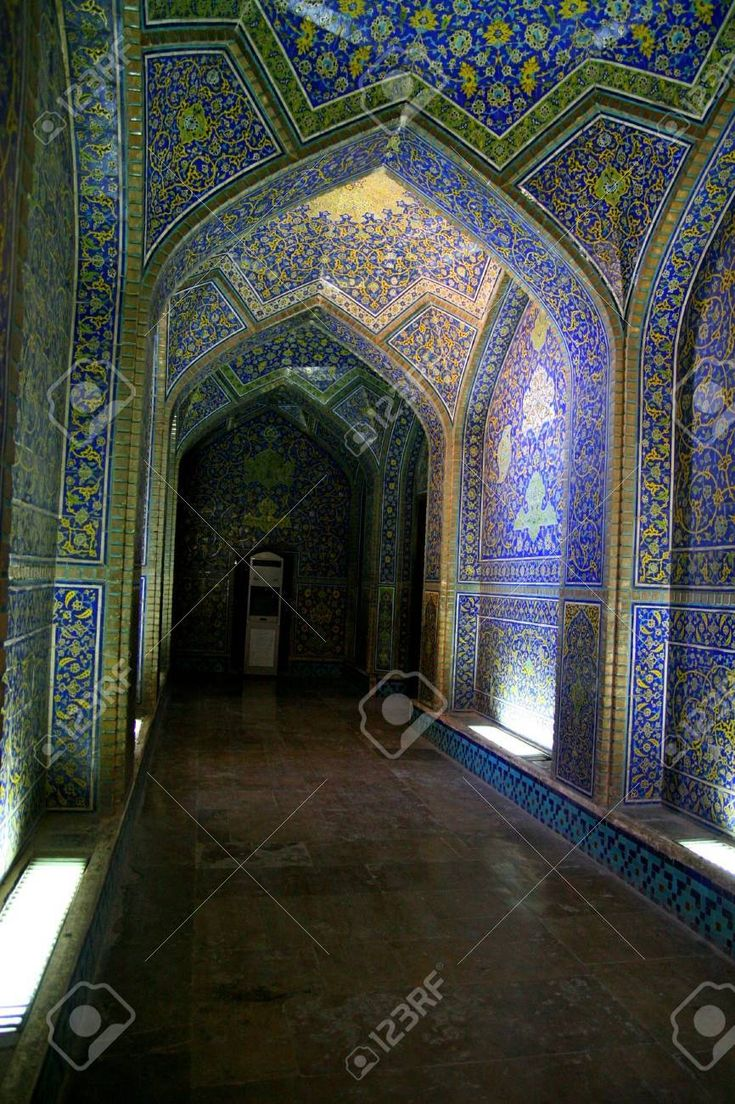 Interior of imam mosque in isfahan iran in 2020 mosque
