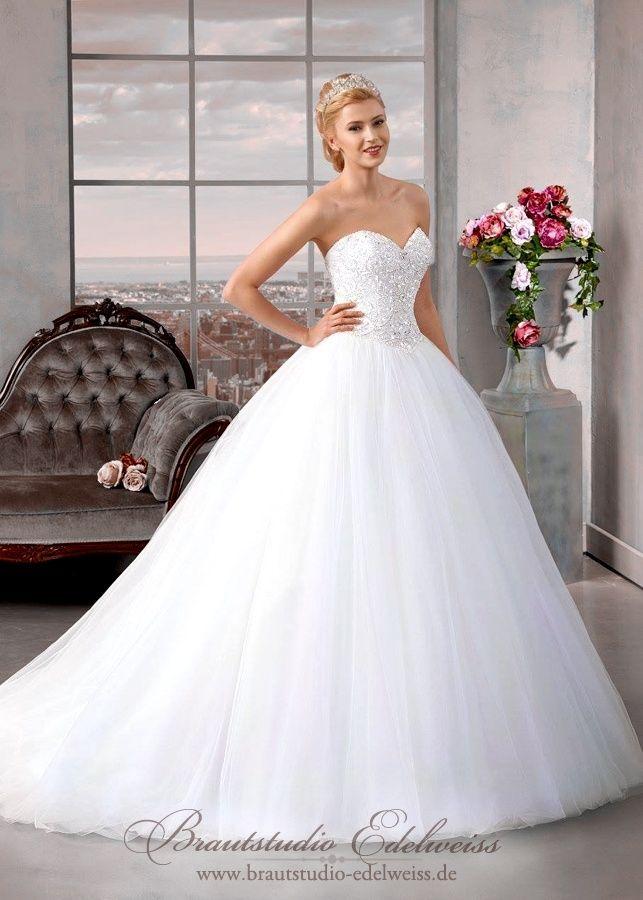 Luxus Jades Perlen Hochzeitskleid Brautkleid Gr.36 Tüll