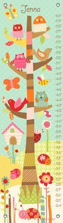 """Pretty Tree"" personalized growth chart by Lesley Grainger for Oopsy daisy, Fine Art for Kids $49"