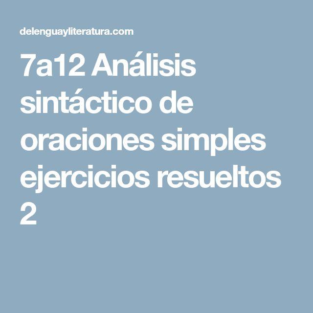 7a12 Análisis sintáctico de oraciones simples ejercicios resueltos 2
