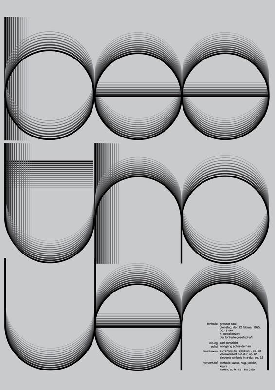 beethoven concert poster / 100 Days by Jessica Svendsen