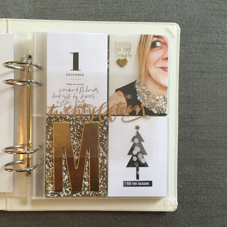 December daily, days 1&2 by melanielouette at @studio_calico. I love the gold. It's my theme this yr.