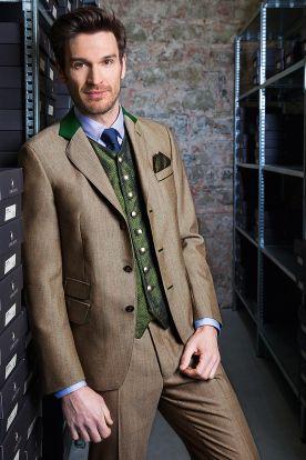 For the Men | Österreichische Tracht Gössl mit Groschen bzw. Rappen |  Anzug mit Seidengilet geschmückt mit 50-Groschen Knöpfen