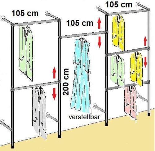 begehbarer Kleiderschrank KLEIDERSTANGE Kleiderständer GARDEROBEZIMMER Art W.13