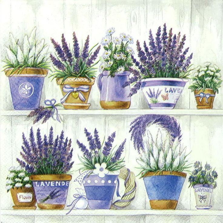 4 x Single Luxury Paper Napkins for Decoupage and Craft Vintage Lavender Range | eBay