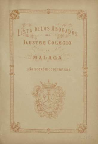 Lista de los Abogados del Ilustre Colegio de Má... (1887)