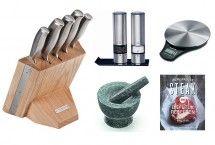 Cadeau voor vriend die van koken houdt | keukenaccessoires | messenset | peper en zout | kado voor hem | ZOOK.nl