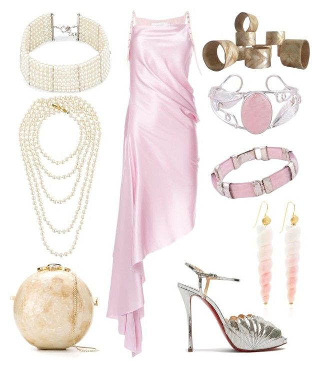 """""""Aphrodite Outfit"""" by miwemporium92 on Polyvore featuring Christian Louboutin, Serpui, Marques'Almeida, Utopia, Chanel and NOVICA"""