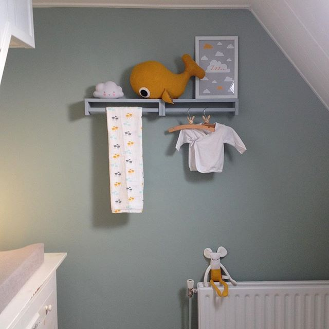 Babykamer | Flexa Early Dew, grijs en okergeel