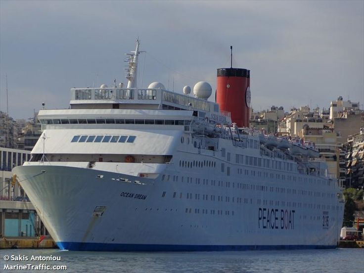 Ocean Dream. Ιδιοκτησία & Διαχείριση: Peace Boat. 1981 ~ 2000 Tropicale. 2000 ~ 2005 Costa Tropicale. 2005 ~ 2008 Pacific Star. 2008 ~ present, today's name. Σε υπηρεσία στις 16/01/1982. 35.190GT ~ 204,76 μ.μ. ~ 26,45 μ.πλάτος ~ 10 κατ/τα ~ 21knots ~ 1.412 επ. ~ 550 α.πλ.