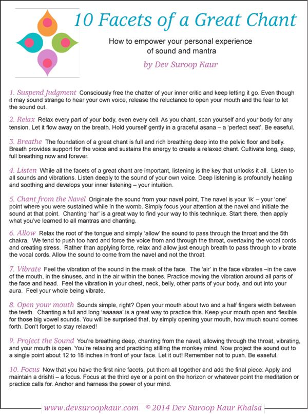 """Free Download of """"The 10 Facets of a Great Chant"""""""