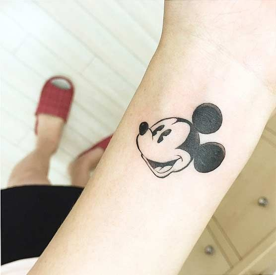 Simple, Vintage Mickey Mouse Wrist Tattoo