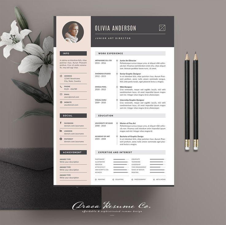 Professional Resume Template Cv Template Photoshop Resume Etsy Resume Design Template Resume Template Professional Resume Template