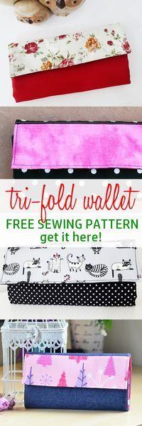 free wallet pattern | tri foldwallet pattern free | easy wallet tutorial | how to sew wallets